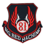 "81 Support Aufnäher ""81 BIG RED MACHINE - WAPPEN"" - REDANDWHITESTORE"
