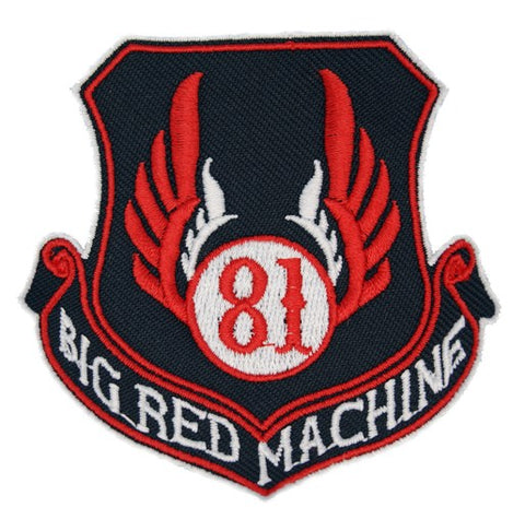 "81 Support Aufnäher ""81 BIG RED MACHINE - WAPPEN"" - REDANDWHITESTORE ROUTE 81"