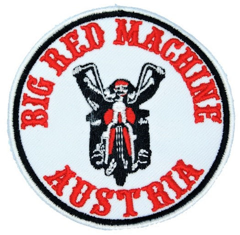 "81 Support Aufnäher ""BIG RED MACHINE AUSTRIA - BIKER"" - REDANDWHITESTORE ROUTE 81"