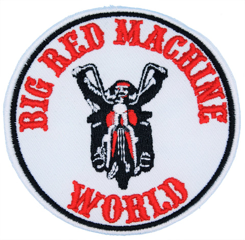"81 Support Aufnäher ""BIG RED MACHINE WORLD - BIKER"" - REDANDWHITESTORE ROUTE 81"