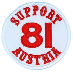 "81 Support Aufnäher ""SUPPORT 81 AUSTRIA"" - REDANDWHITESTORE ROUTE 81"