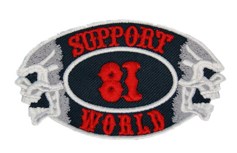 "81 Support Aufnäher ""SUPPORT 81 WORLD - TOTENKÖPFE"" - REDANDWHITESTORE ROUTE 81"