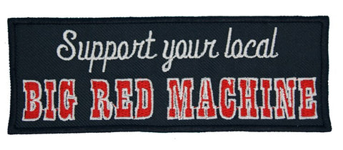 "81 Support Aufnäher ""SUPPORT YOUR LOCAL BIG RED MACHINE"" - REDANDWHITESTORE"