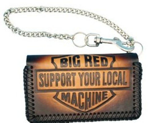 "Geldbörse ""SUPPORT YOUR LOCAL BIG RED MACHINE"" braun oder schwarz - REDANDWHITESTORE ROUTE 81"