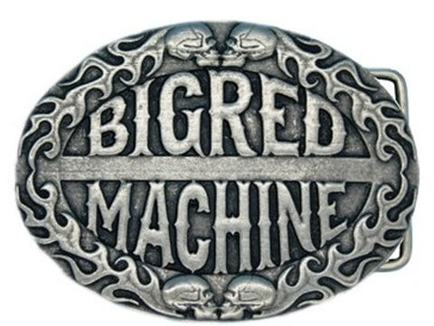 "GÜRTELSCHNALLE aus Metall, versilbert ""BIG RED MACHINE"" - REDANDWHITESTORE ROUTE 81"