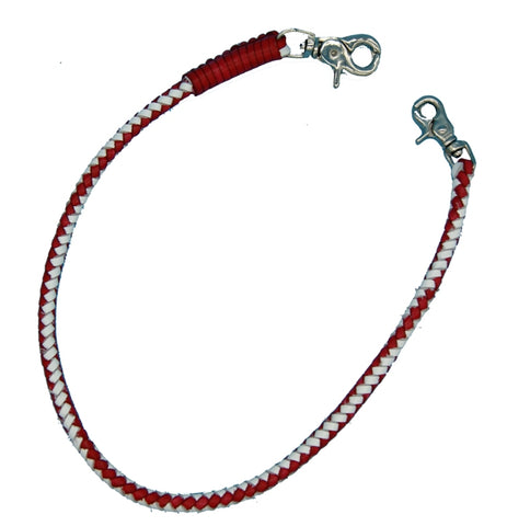 "WALLET CHAIN ""RED & WHITE"" Leder - REDANDWHITESTORE ROUTE 81"