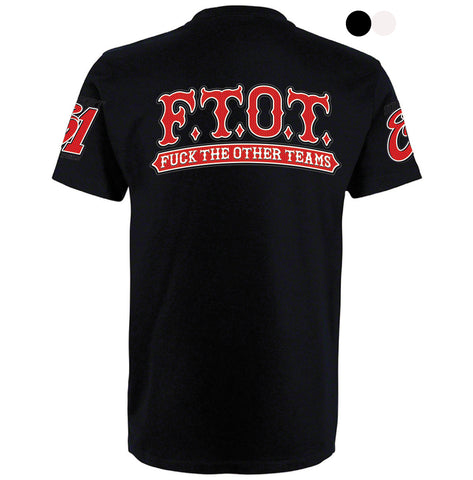 "T-SHIRT ""SUPPORT EIGHTYONE WORLD - F.T.O.T."" - REDANDWHITESTORE ROUTE 81"