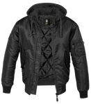 "81 SUPPORT MA1 Sweat Hooded Jacke ""MOTORCYCLECLUB"" black/black - REDANDWHITESTORE ROUTE 81"