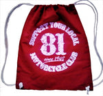 "81 Support Hipster Bag ""SUPPORT YOUR LOCAL MOTORCYCLECLUB"" - REDANDWHITESTORE ROUTE 81"