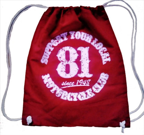 "81 Support Hipster Bag ""SUPPORT YOUR LOCAL MOTORCYCLECLUB"" - REDANDWHITESTORE"
