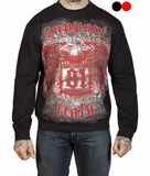 "SWEATSHIRT ""SUPPORT 81 NOMADS ITALY- EAGLE"" - REDANDWHITESTORE ROUTE 81"