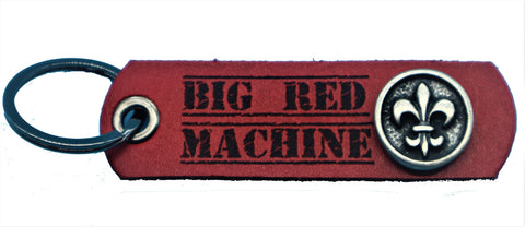 "SUPPORT Schlüsselanhänger aus Leder ""BIG RED MACHINE FLEUR DE LIS"" - REDANDWHITESTORE ROUTE 81"