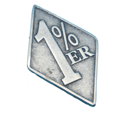 "81 Support Pin ""1%"" in Silber - REDANDWHITESTORE ROUTE 81"