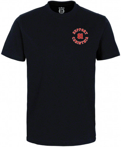 "T-SHIRT ""SUPPORT 81 CARINTHIA - BIG RED MACHINE MOTORCYCLECLUB"" - REDANDWHITESTORE ROUTE 81"