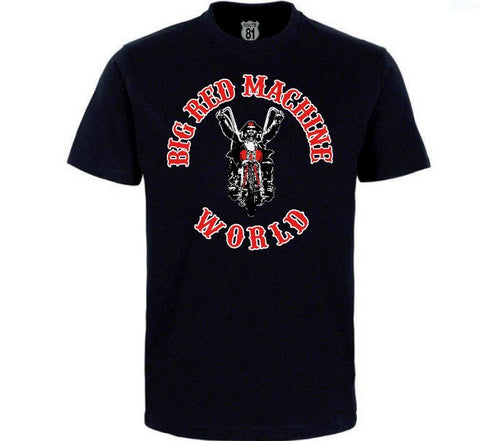 "T-SHIRT ""BIG RED MACHINE WORLD - BIKER"" - REDANDWHITESTORE ROUTE 81"