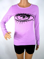 HUZZAR DESIGN 70s Repro Hand Screen Printed Long Sleeve T-shirt In SMALL