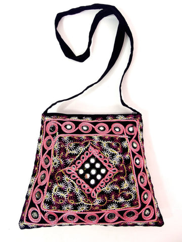 Gorgeous Indian Embroidered Bag With Shisha Mirrors