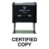 Black CERTIFIED COPY Self Inking Rubber Stamp
