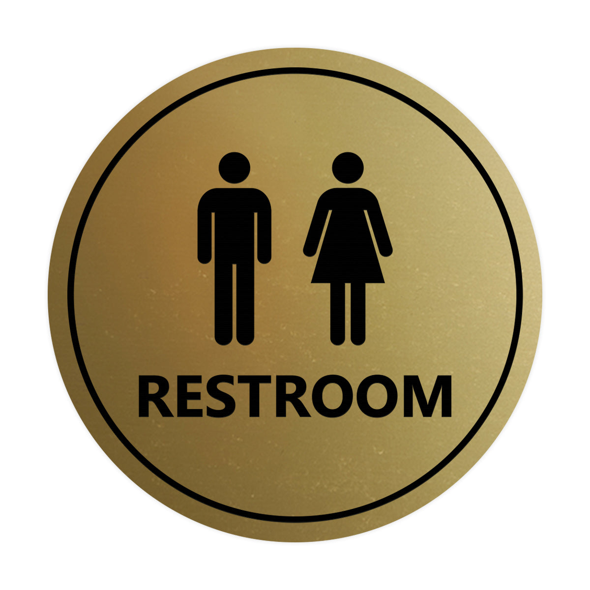 Signs ByLITA Circle Unisex Restroom Sign