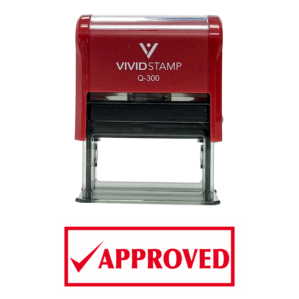 Approved W/Check Office Self-Inking Office Rubber Stamp