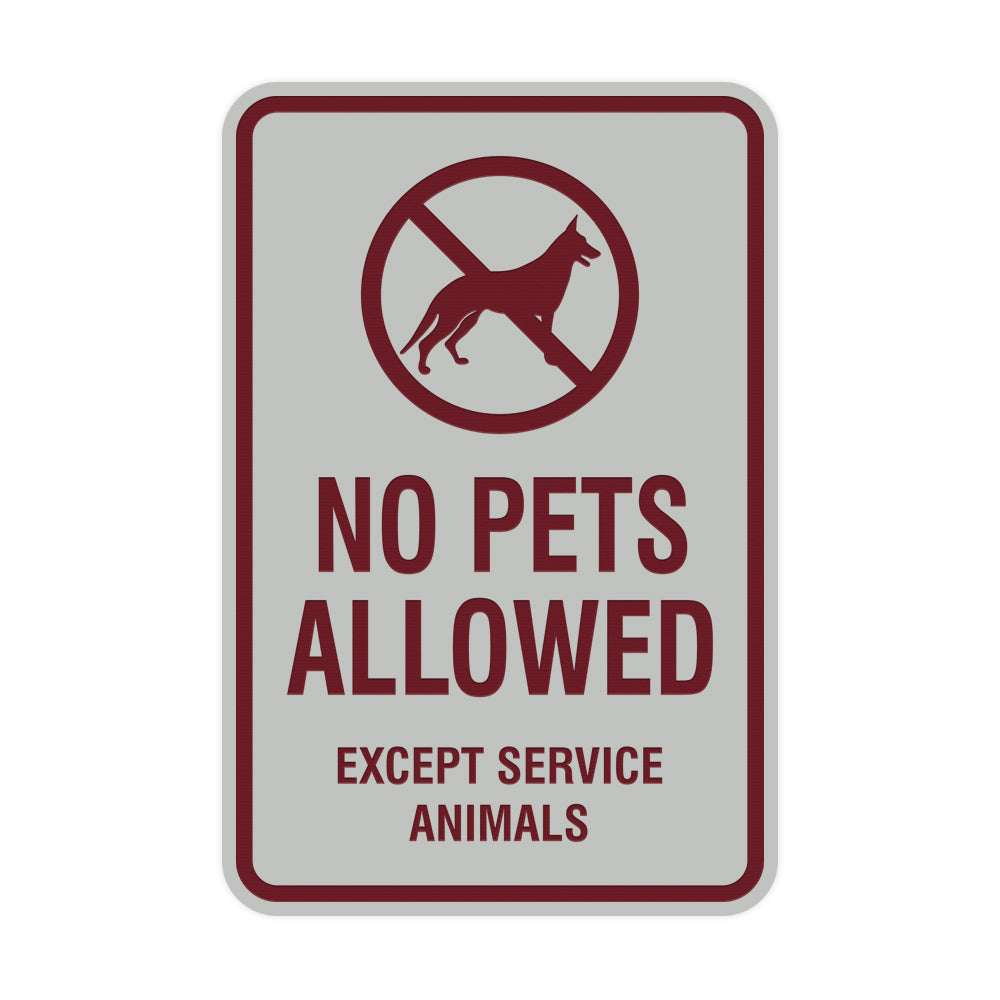 Signs ByLITA Portrait Round No Pets Allowed Except Service Animals Sign