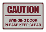 Signs ByLITA Classic Framed Caution Swinging Door Please Keep Clear Sign
