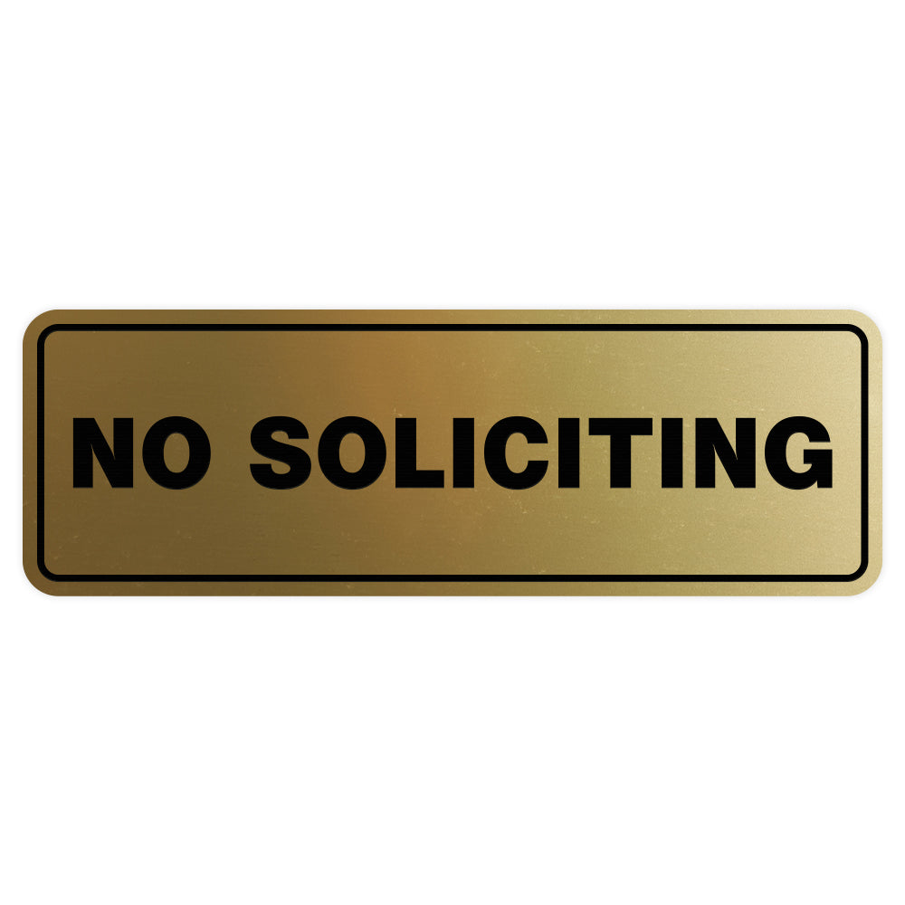 Standard No Soliciting Sign