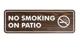 Standard No Smoking On Patio Sign