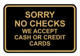 Signs ByLITA Classic Framed Sorry No Checks Sign