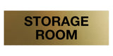 Brushed Gold Signs ByLITA Basic Storage Room
