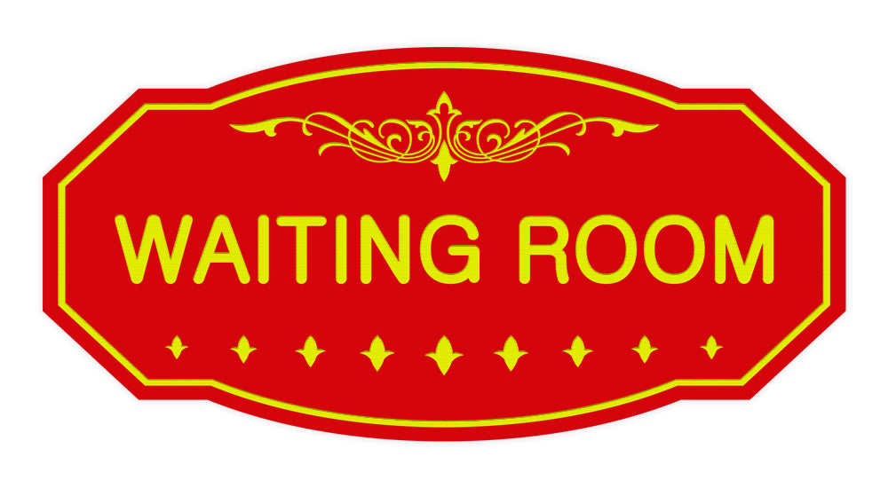 Victorian Waiting Room Sign