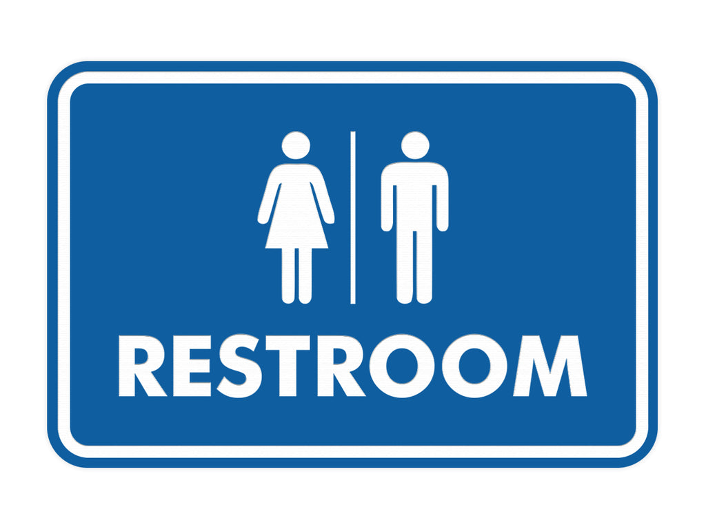 Signs ByLITA Classic All Gender Restroom Sign