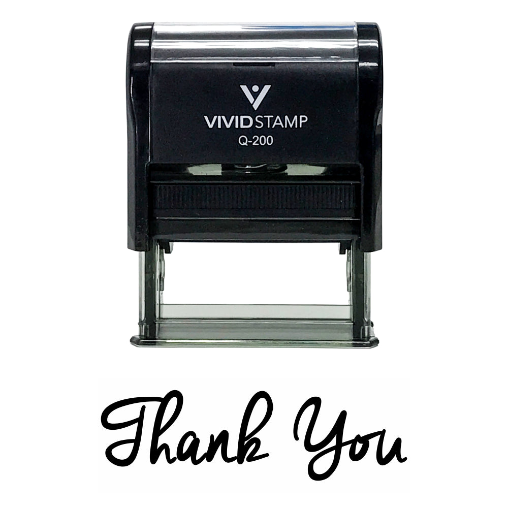 Black THANK YOU Self-Inking Rubber Stamp