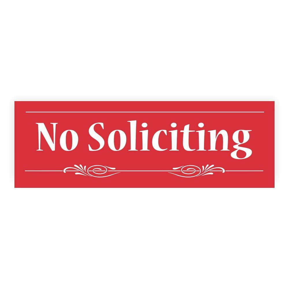 Decorative No Soliciting Sign