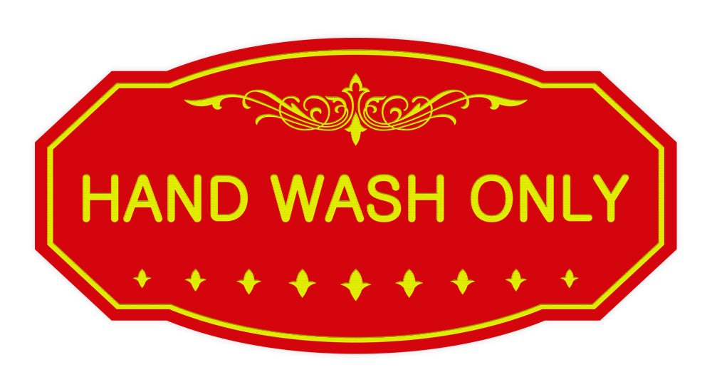 Victorian Hand Wash Only Sign