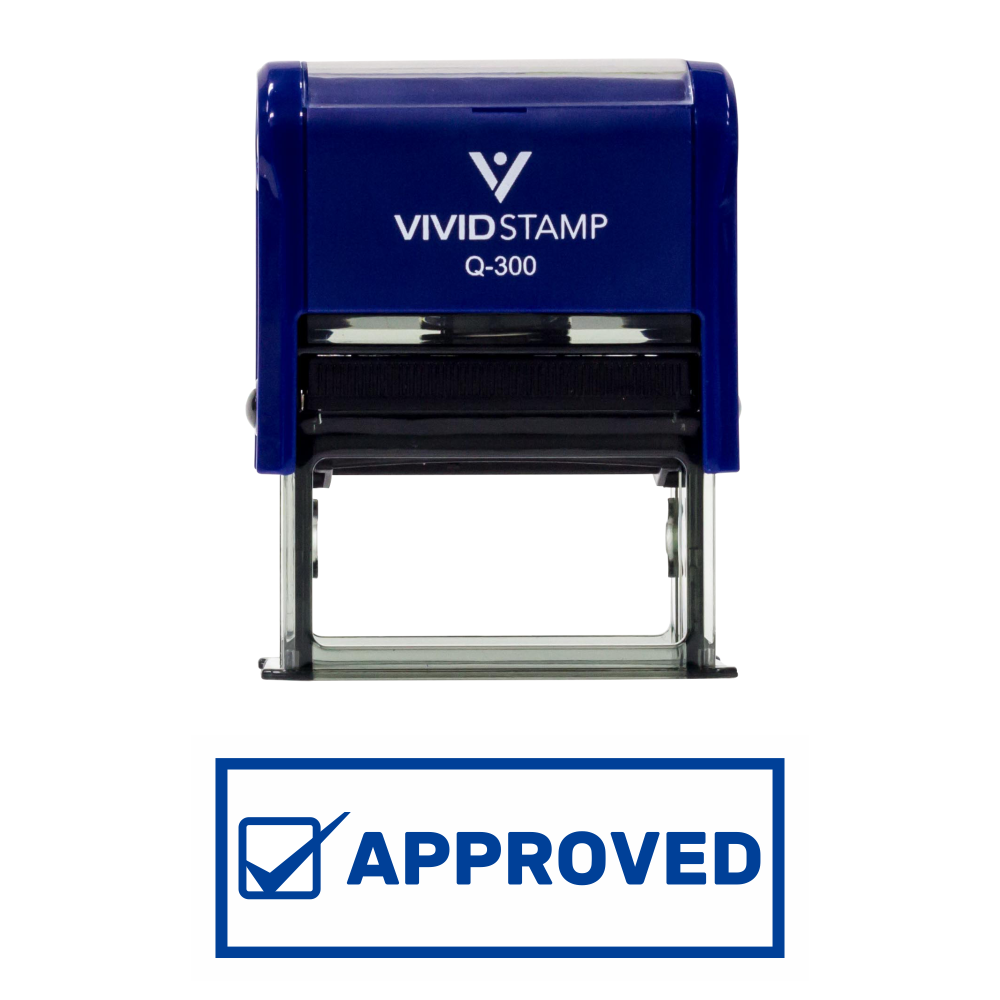 Approved W/Checkbox Office Self-Inking Office Rubber Stamp