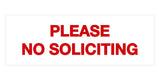 Signs ByLITA Basic Please No Soliciting Sign
