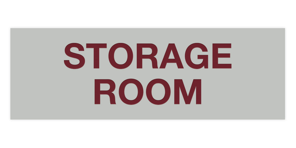 Light Grey / Burgundy Signs ByLITA Basic Storage Room