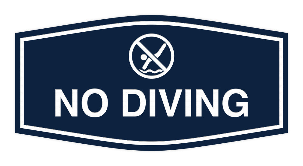 Signs ByLITA Fancy No Diving Sign with Adhesive Tape, Mounts On Any Surface