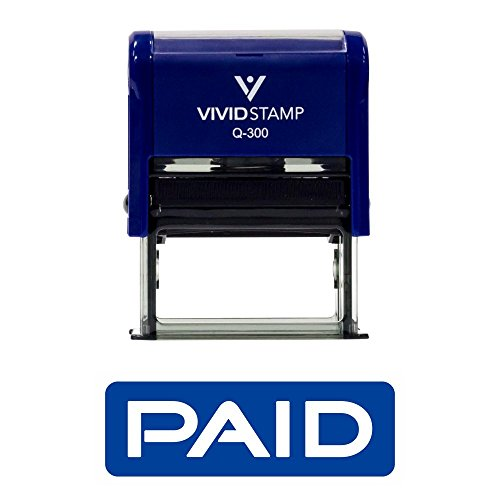 Paid Reversed Self Inking Rubber Stamp