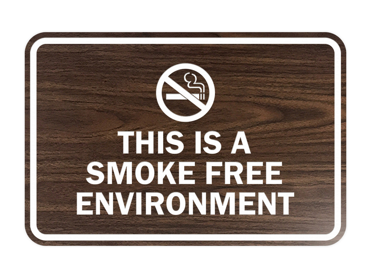 Signs ByLITA Classic Framed This Is A Smoke Free Environment Sign