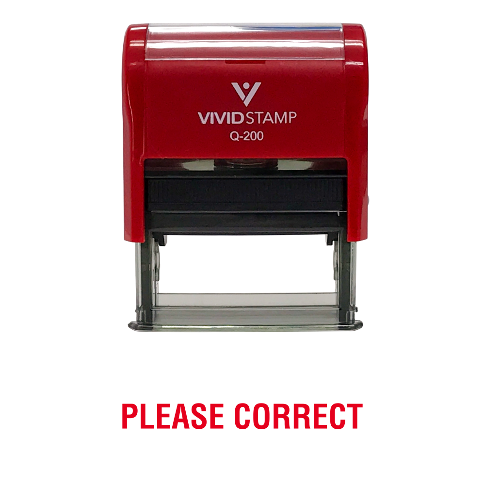 Please Correct Rubber Stamp