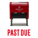 "Red ""PAST DUE"" Self Inking Rubber Stamp"