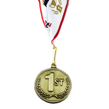 1st Place High Relief Gold Medal Award - Includes Ribbon