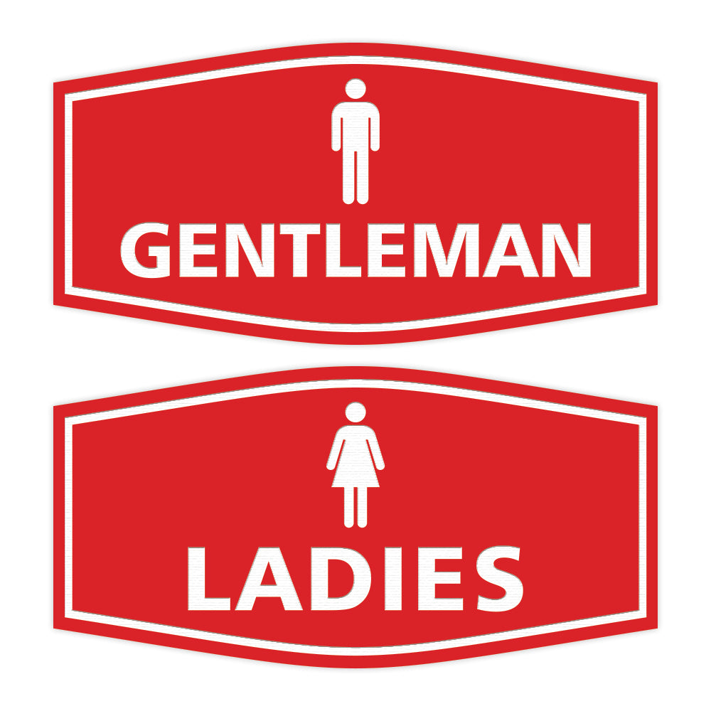 Signs ByLITA Fancy Ladies and Gentlemen Sign Set, 2-Pack