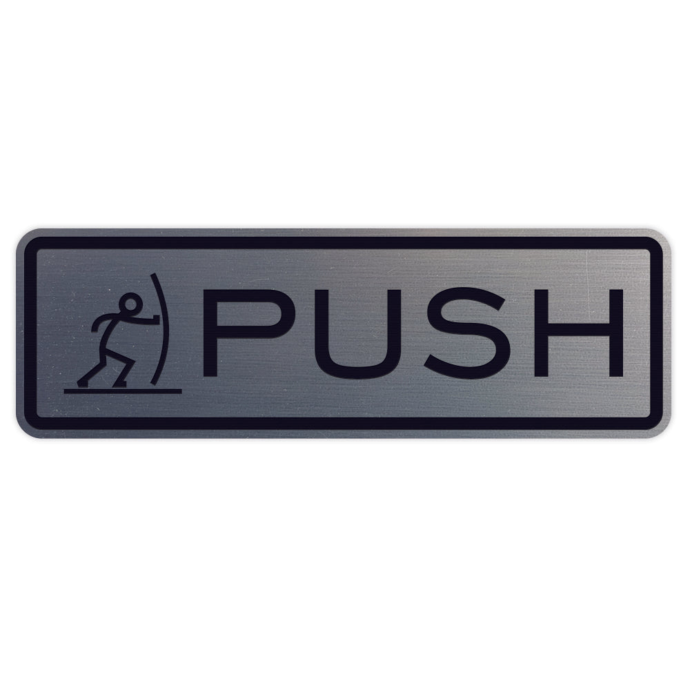 Fun Horizontal Push Pull Door Sign