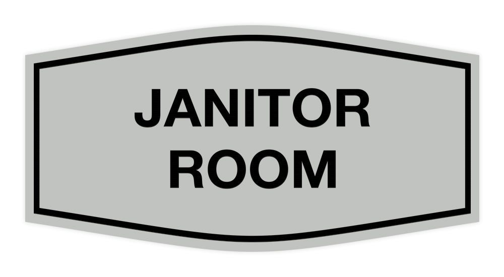 Signs ByLITA Fancy Janitor Room Sign