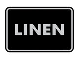 Signs ByLITA Classic Linen Sign with Adhesive Tape, Mounts On Any Surface, Weather Resistant, Indoor/Outdoor Use