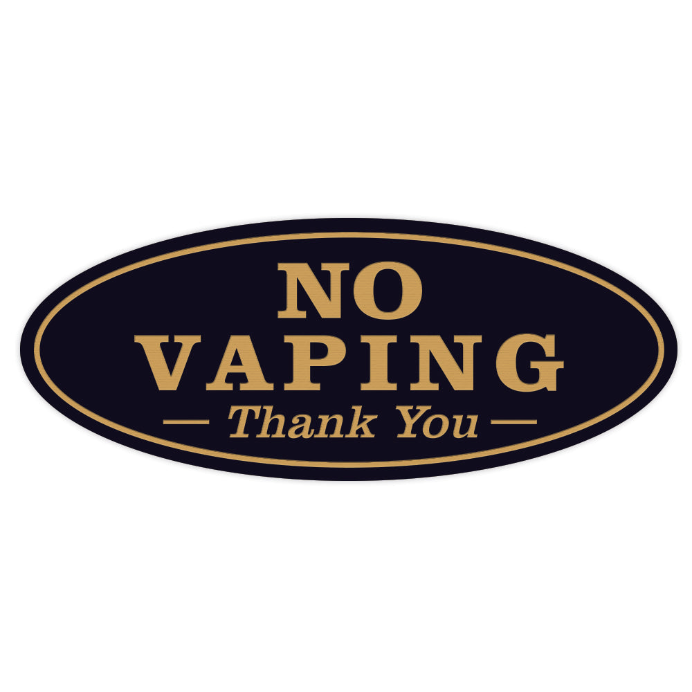Oval NO VAPING Thank You Sign