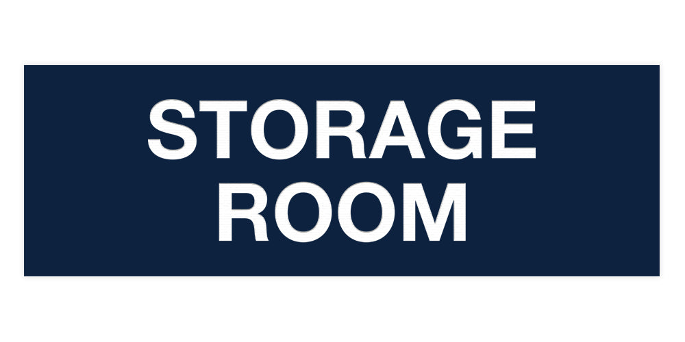 Navy Blue / White Signs ByLITA Basic Storage Room